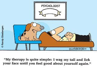 Funnies | Therapy, Psychology & I | Cartoon dog, Therapy