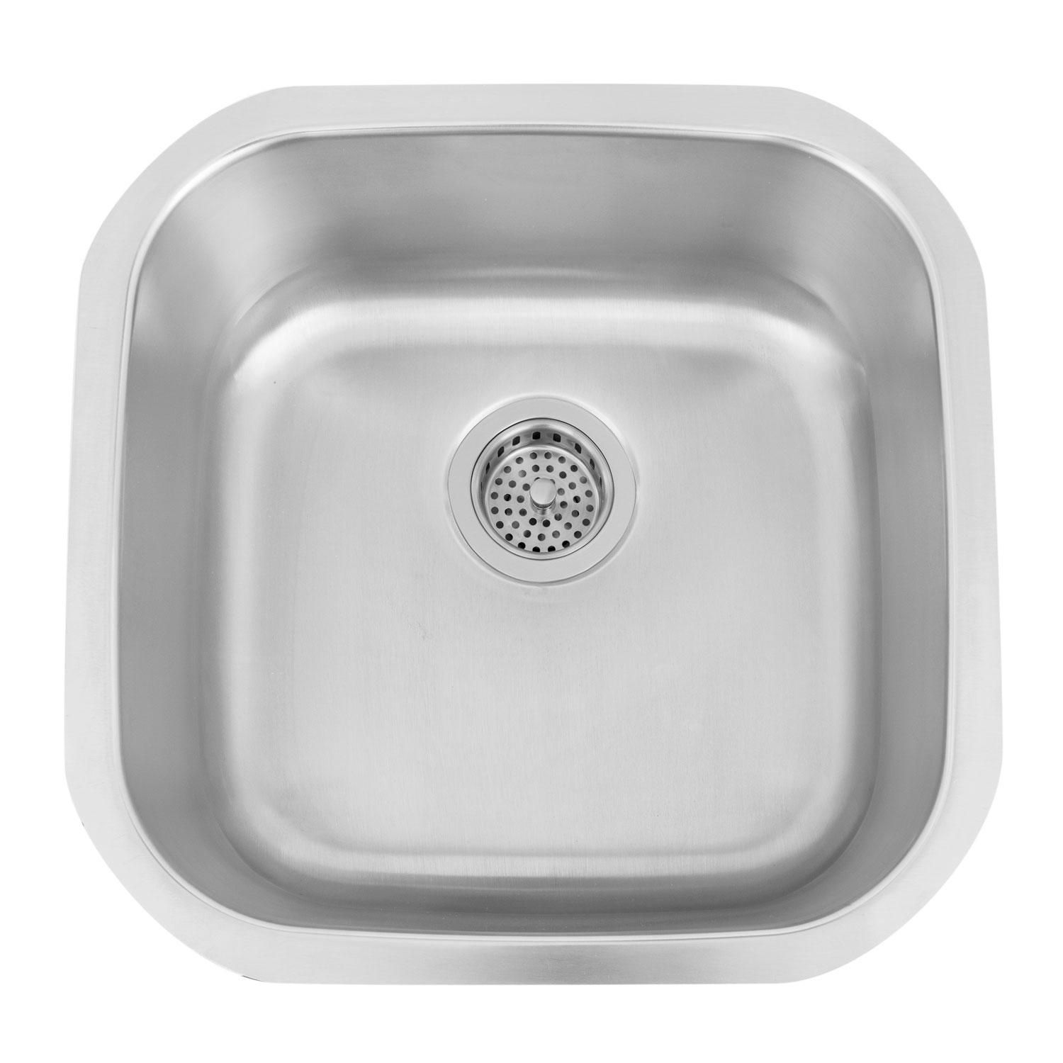 """18"""" Infinite Large Square Stainless Steel Undermount Prep Sink"""