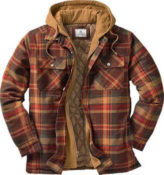 Veste-chemise en flanelle à capuche en érable pour homme   – tarz- moda