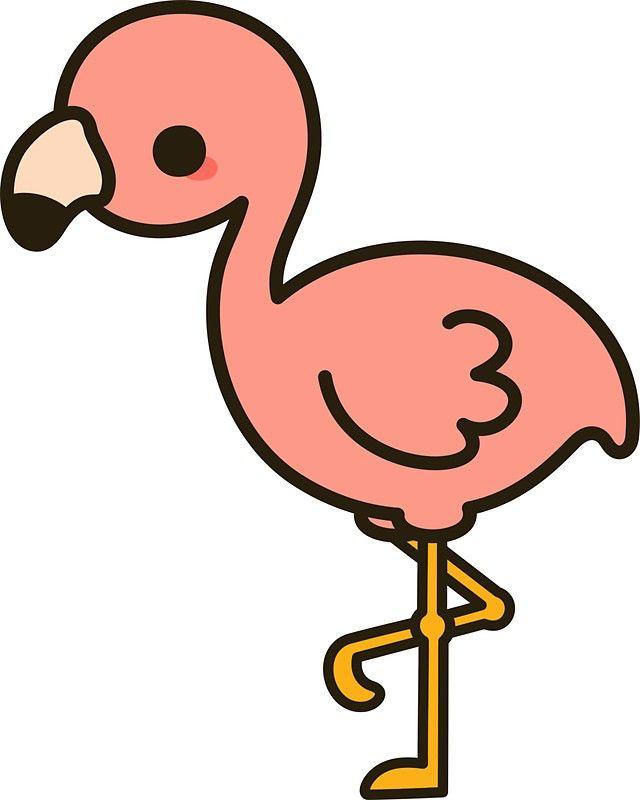 'Cute flamingo' Sticker by peppermintpopuk