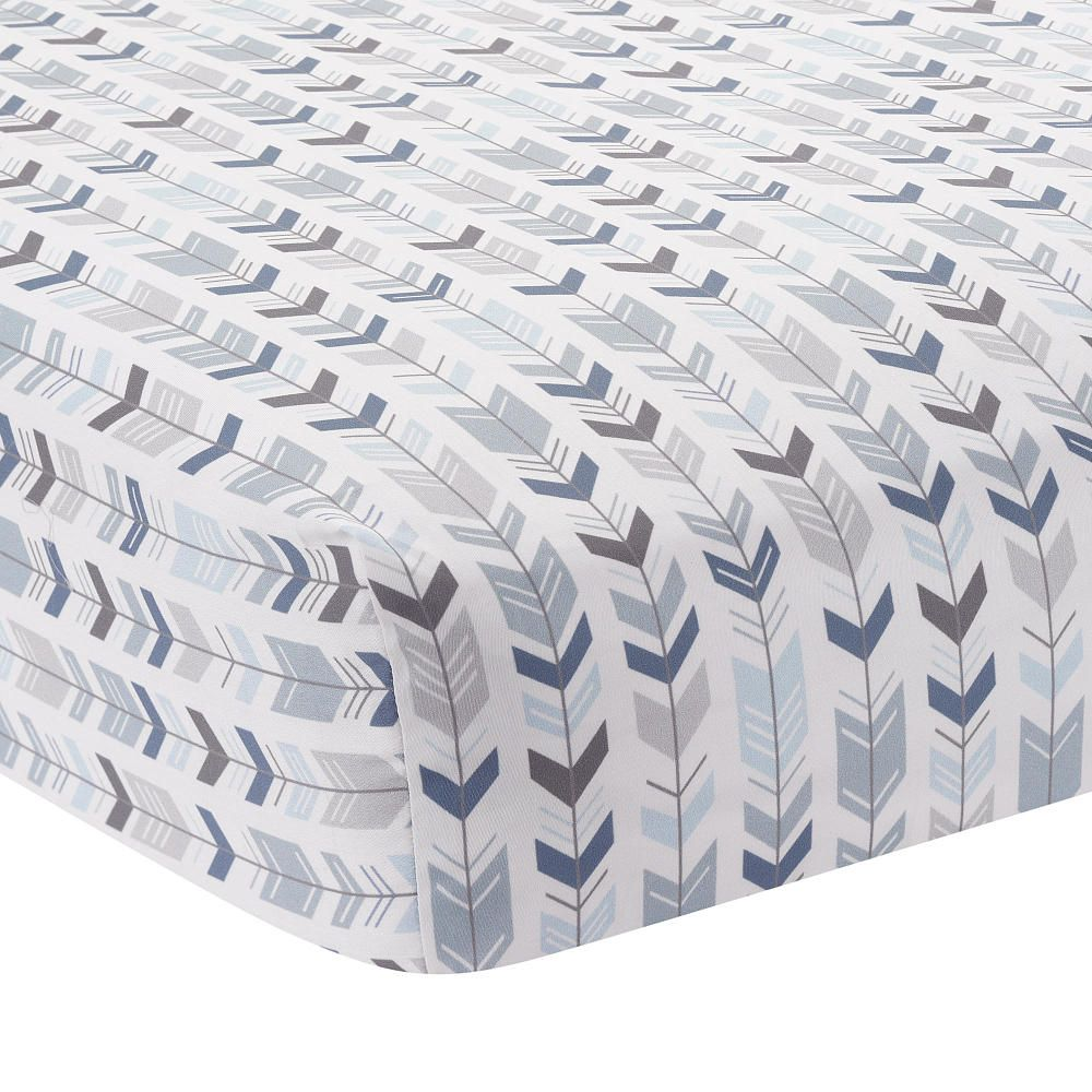 This montana fitted crib sheet was designed exclusively