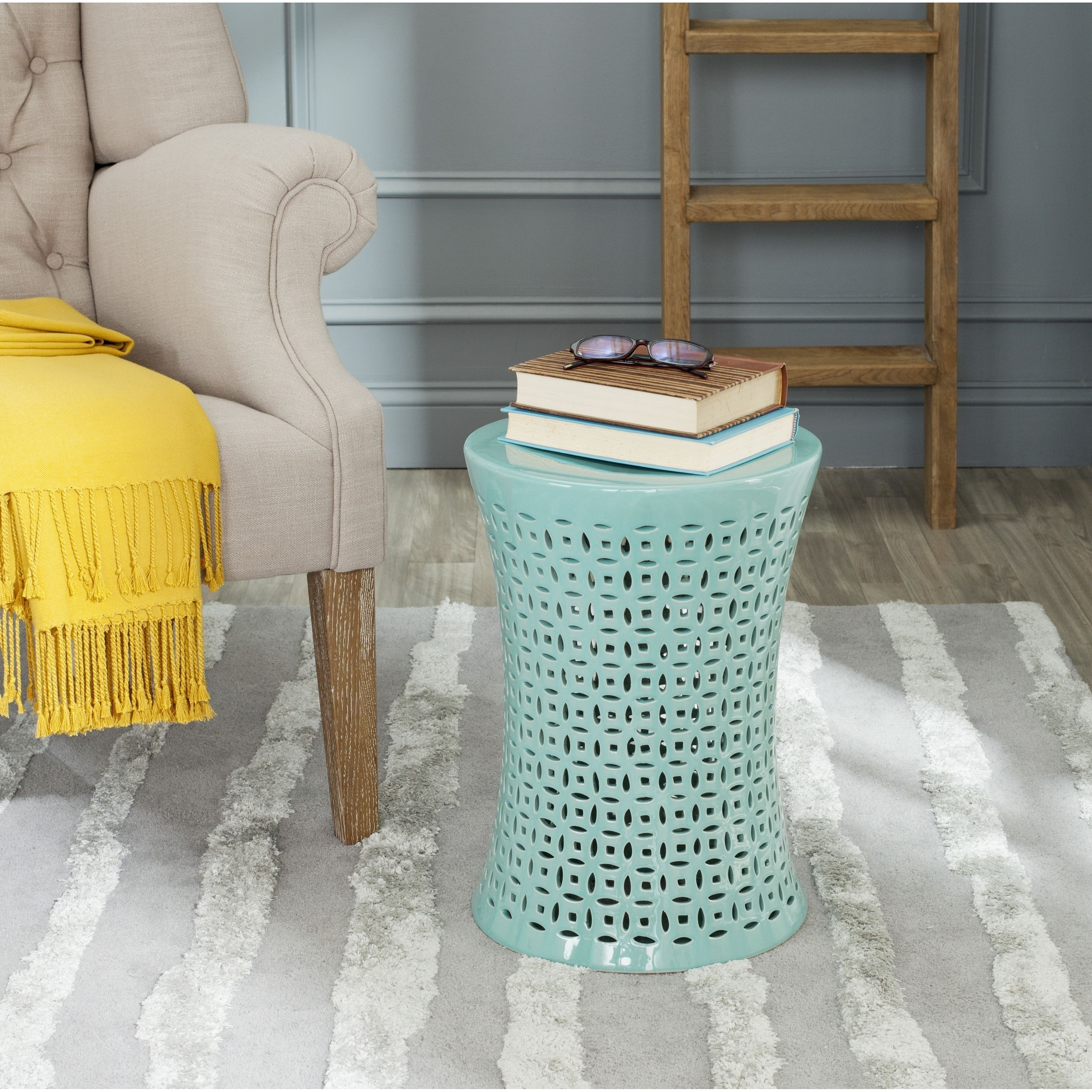 Fine Safavieh Camilla Aqua Garden Stool Acs4550C Green Andrewgaddart Wooden Chair Designs For Living Room Andrewgaddartcom