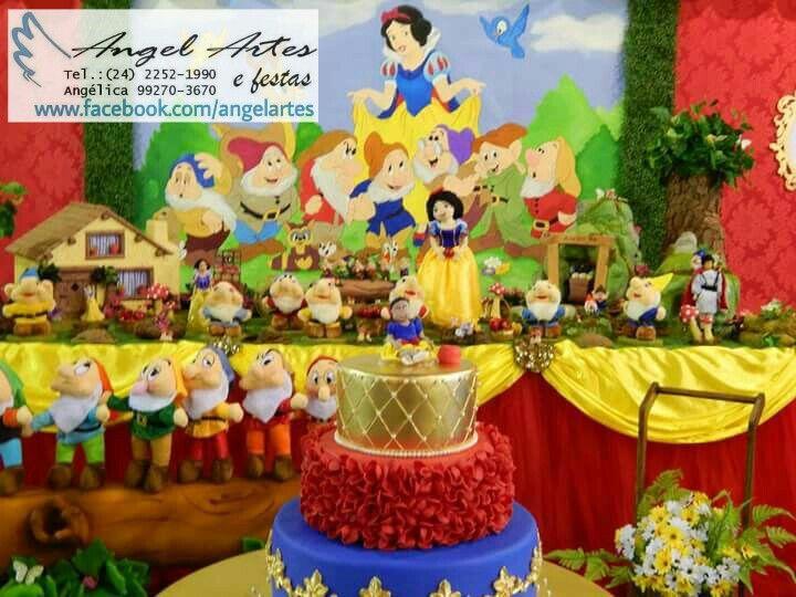 Festa Branca de Neve e os 7 Anões www.facebook.com/angelartes