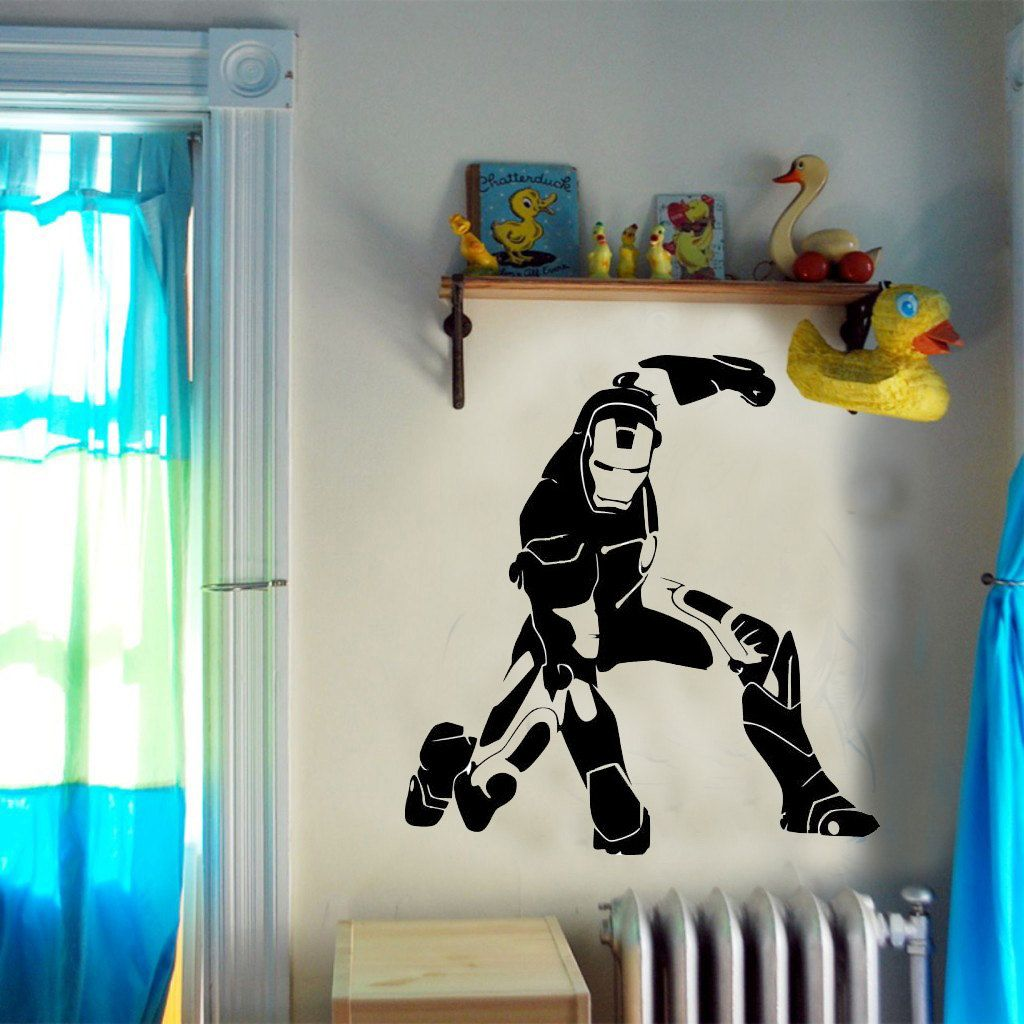 the avengers iron man childrens wall sticker vinyl decal shop iron man wall decals amp graphics fathead heroes
