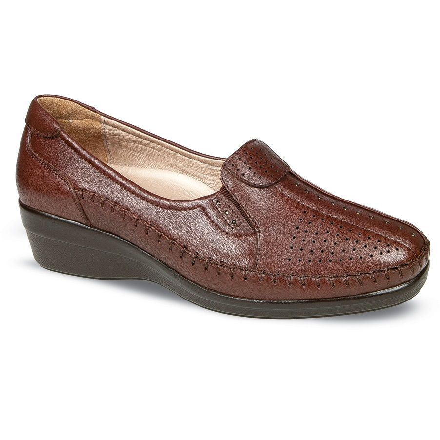 Ceyo Brown Leather Women Shoe Zapatos Sandalias Zapatos Verano Zapatos Dama