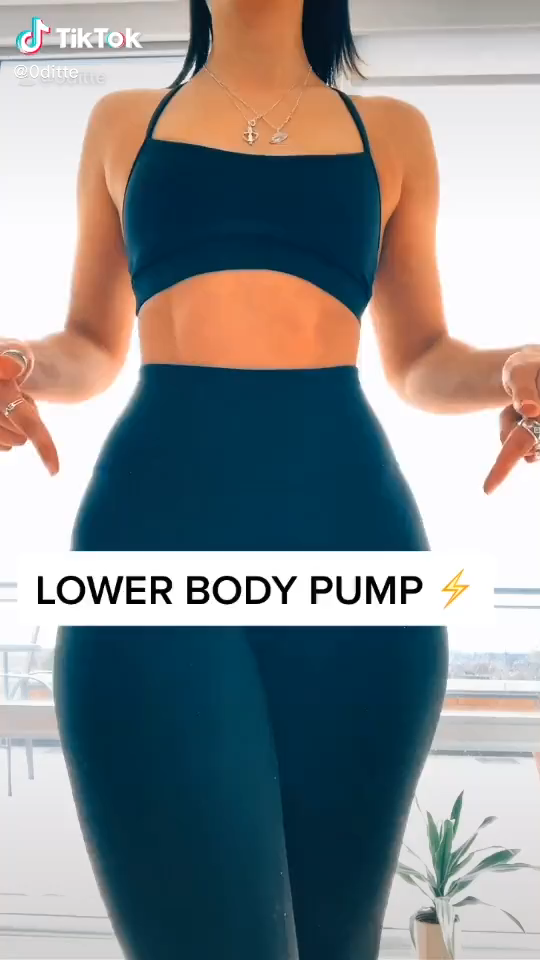 At Home Lower Body Workout For Women No Equipments