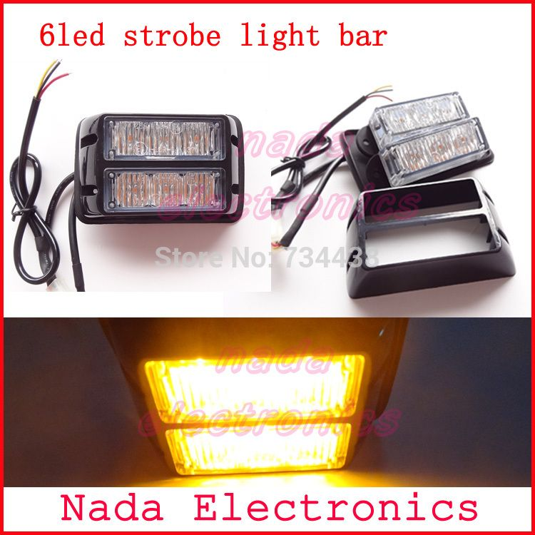 Strobe Lights For Cars Unique 6Led Car Strobe Lights Bar Auto Vehicle Flash Light Yacht Warning