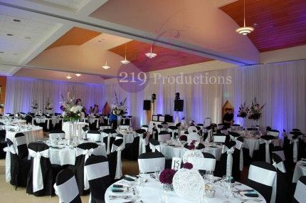 Full Room Drapery And Uplighting At Centennial Park In Munster Indiana