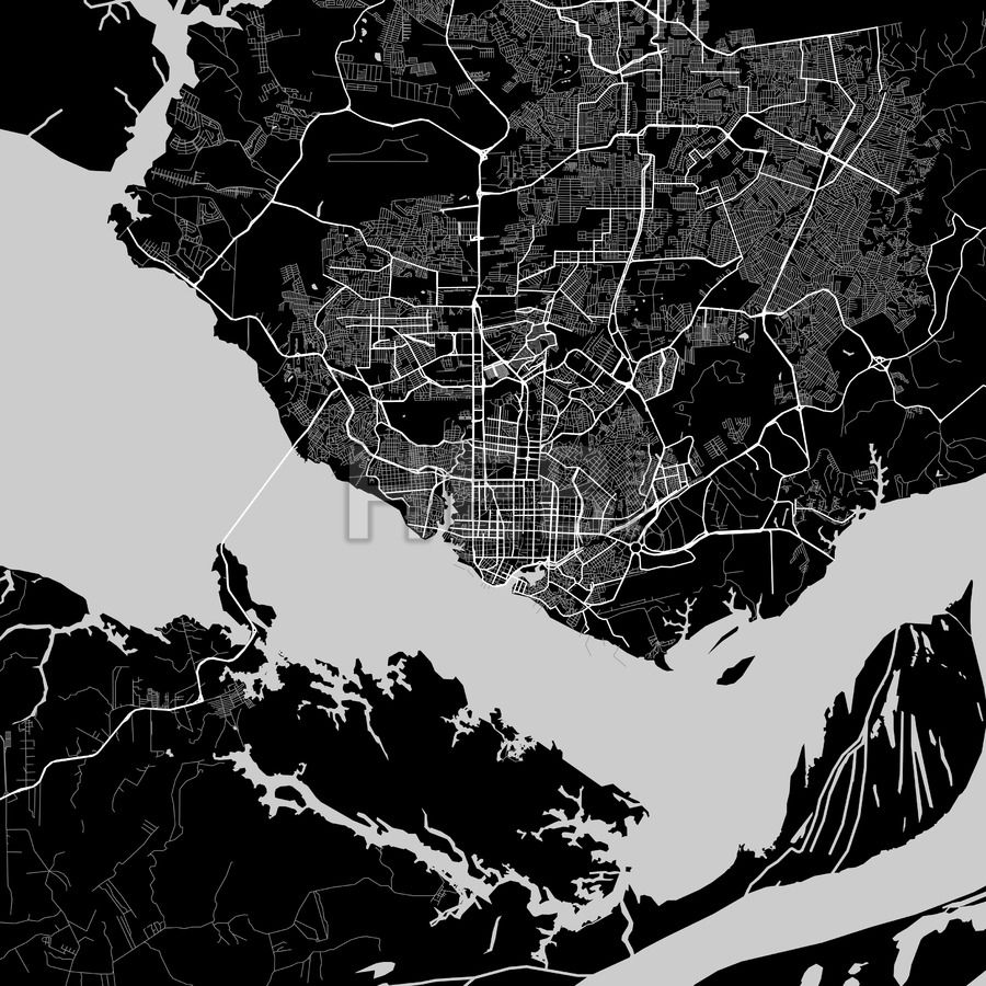 Area map of manaus brazil maps vector downloads pinterest area map of manaus brazil dark background version for infographic and marketing projects gumiabroncs Images
