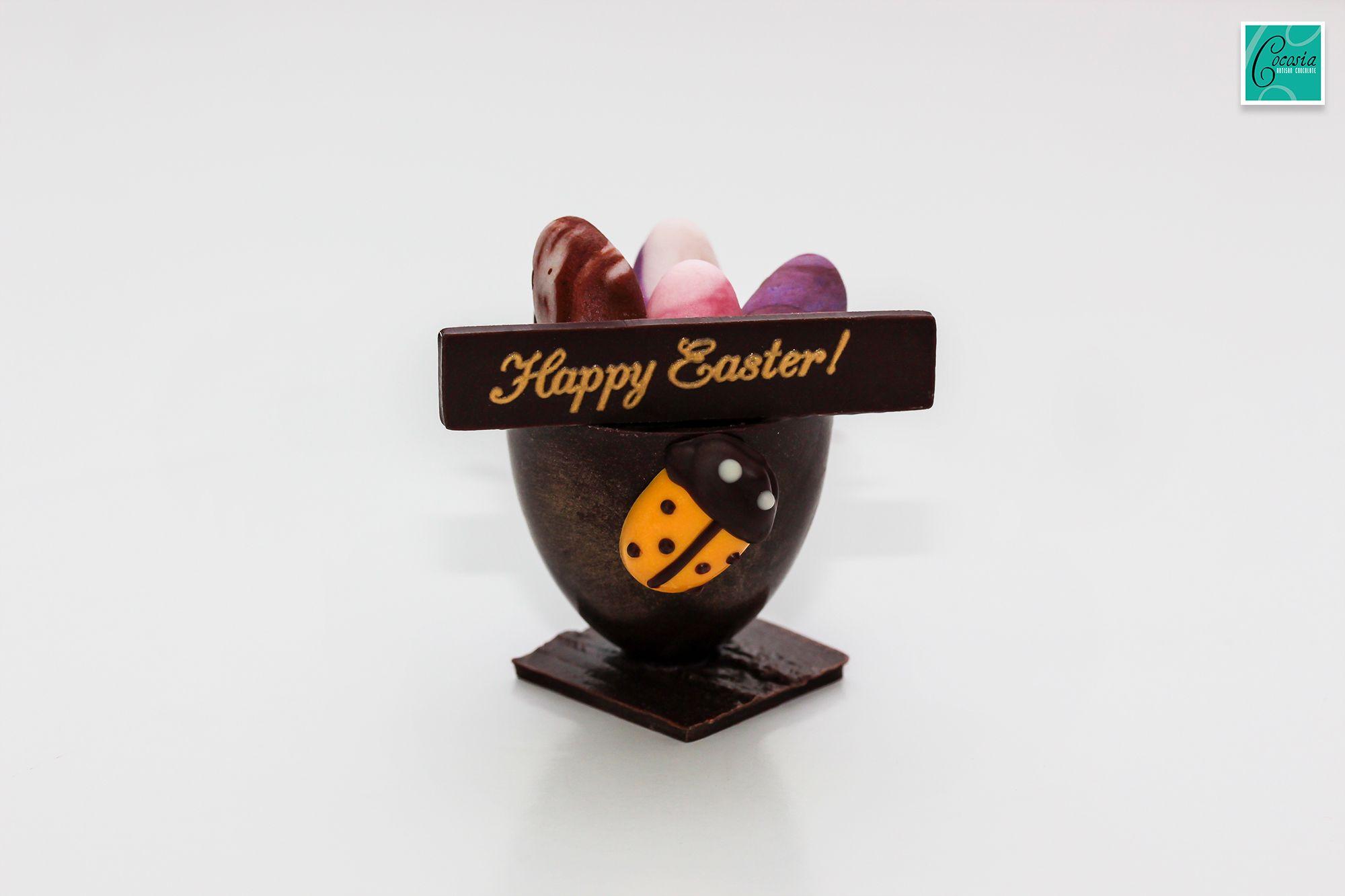 Cocosia artisan chocolate happy easter egg chocolate basket cocosia artisan chocolate happy easter egg chocolate basket negle Image collections