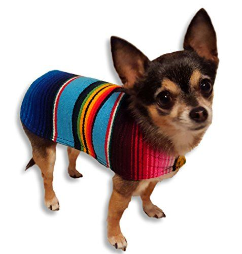 Dog Clothes Handmade Dog Poncho From Authentic Mexican Blanket By