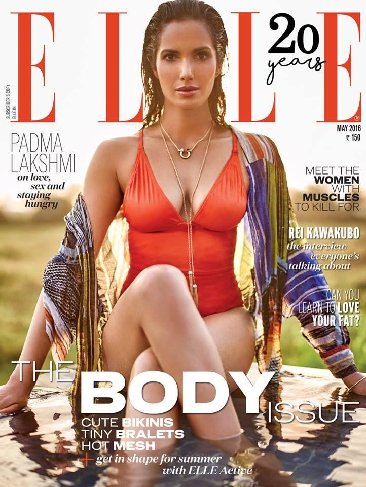 Padma Lakshmi for Elle India May 2016