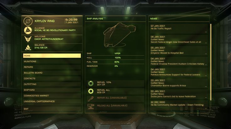 Elite Dangerous: Military/UI color interface by
