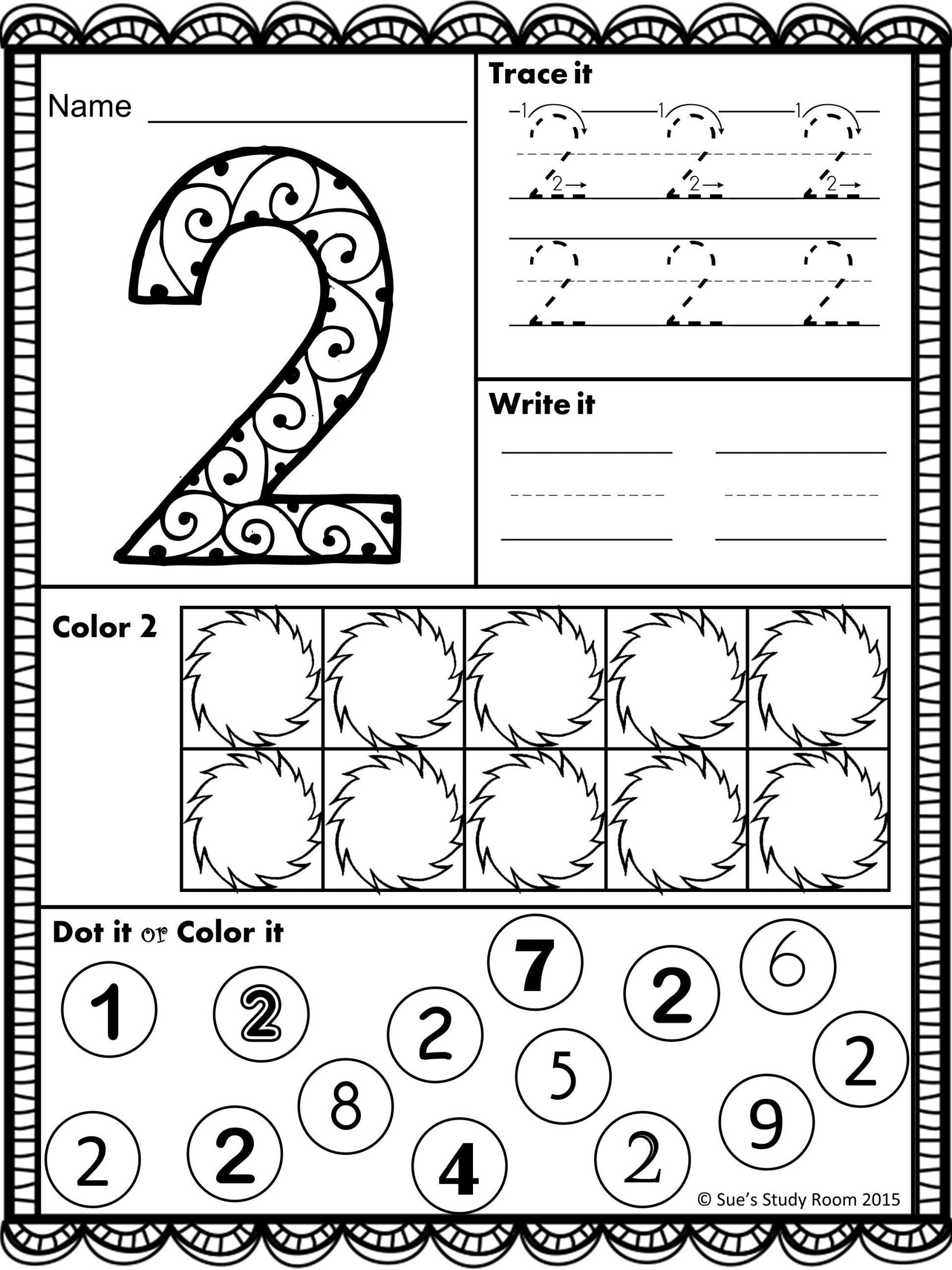 Number Recognition Worksheets Preschool Numbers Number