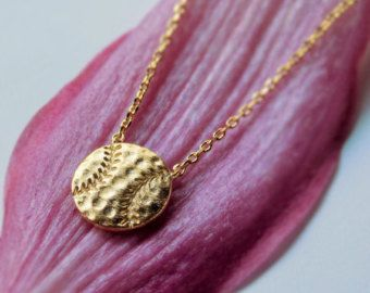 Baseball Necklace Gold Baseball necklace and Engagement