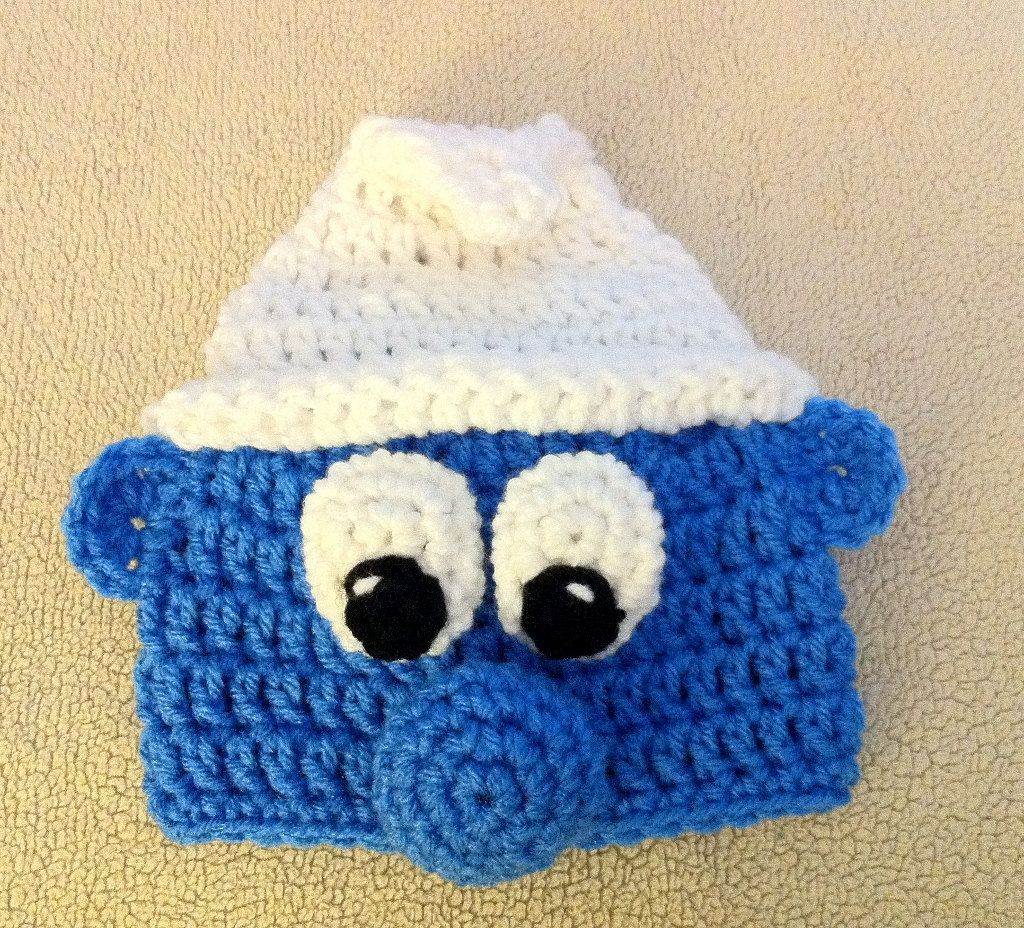 Free crochet character hat patterns pattern crochet patterns smurf handmade crochet hat beanie pattern available on etsy if only mom could learn to knit this istead of crochet bankloansurffo Image collections