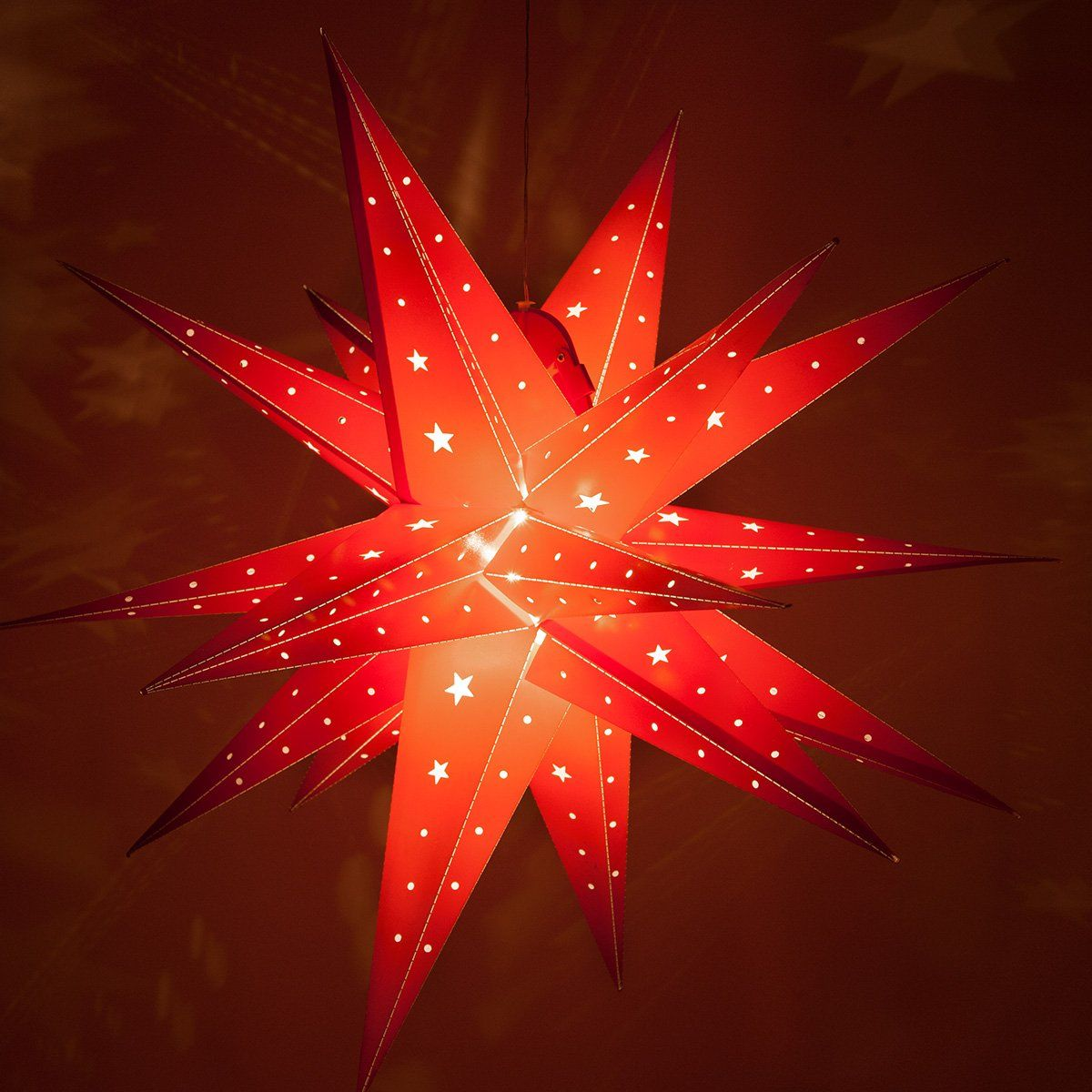 Fold Flat Led Star Lantern Moravian Star Star Light Battery Powered With Timer 30 Red Cli Star Christmas Lights Star Lanterns Moravian Star Light