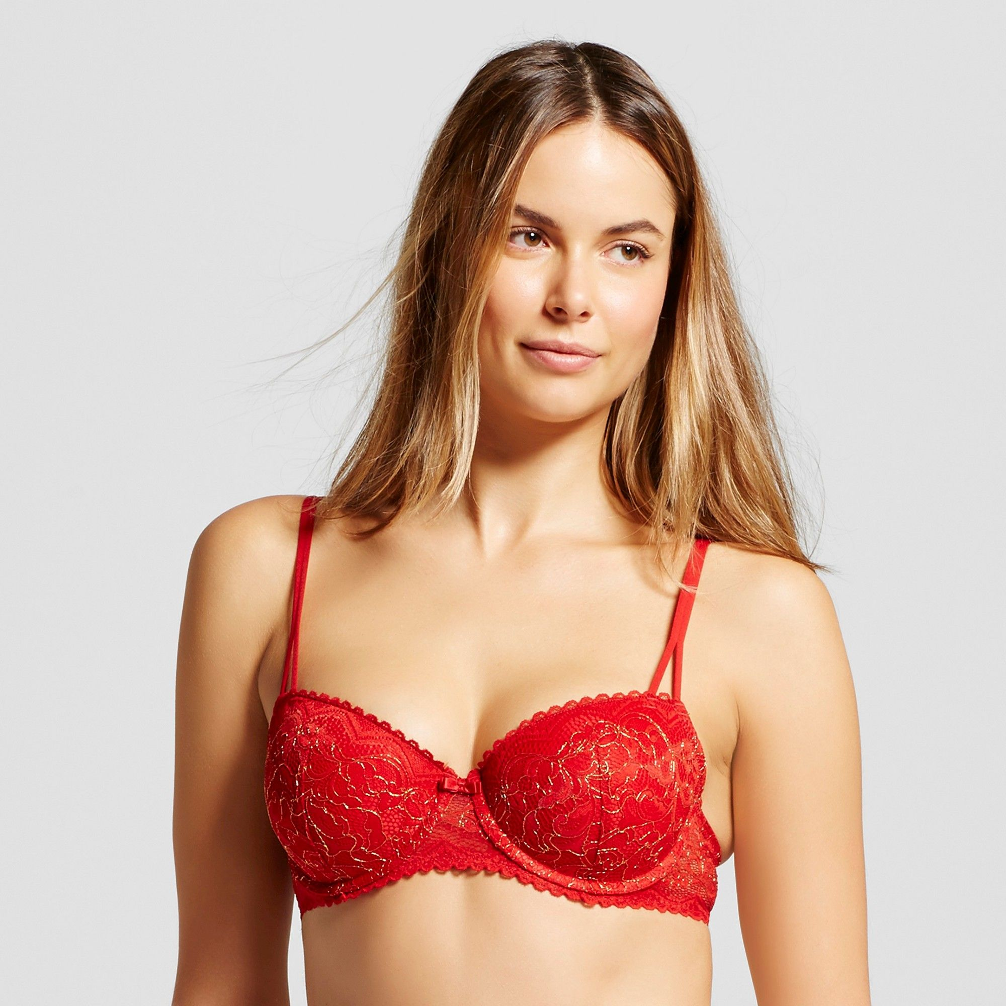 f99f57b25e236 Women s Push-Up Balconette Bra Ripe Red 34B