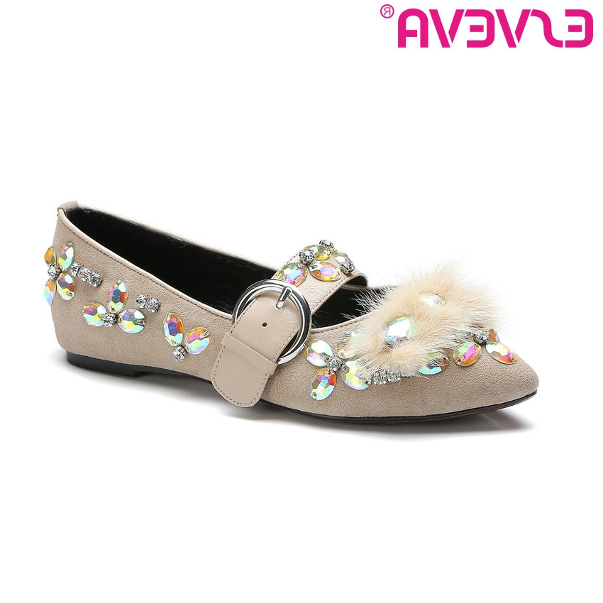 46.18$  Buy now - http://aliamv.worldwells.pw/go.php?t=32778298141 - ESVEVA 2017 Sweet Girl Party Shoes Spring Autumn Real Leather Women Pumps Pointed Toe Buckle Square Low Heel Pumps Size 34-39 46.18$