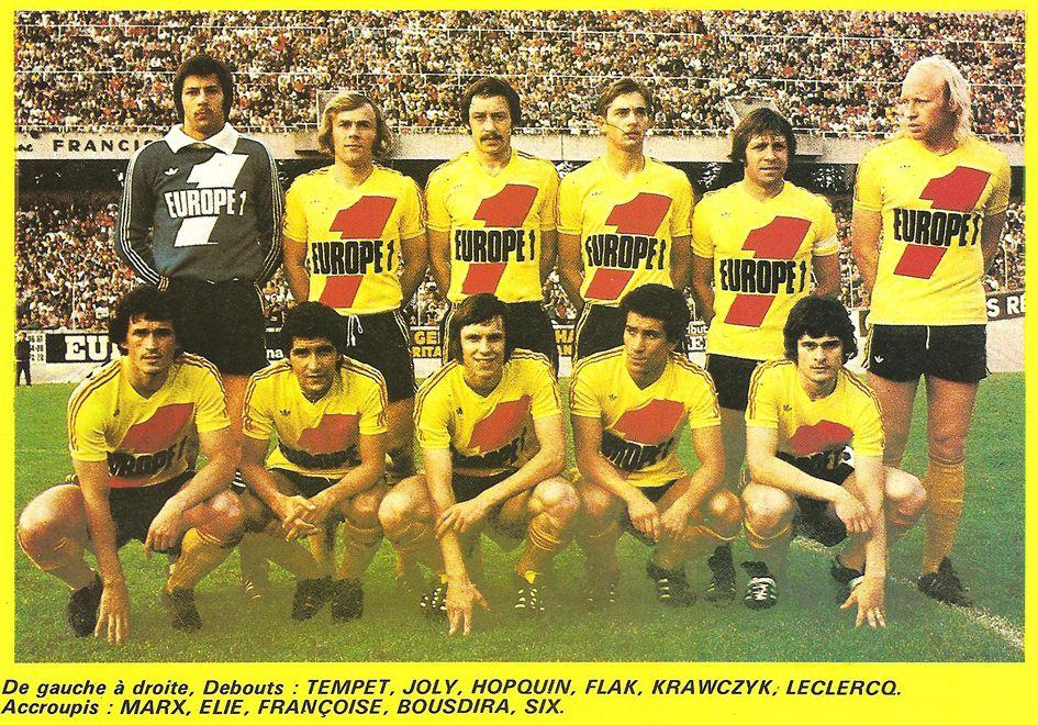 RC LENS 197677. Debout Tempet, Joly, Hopquin, Flak