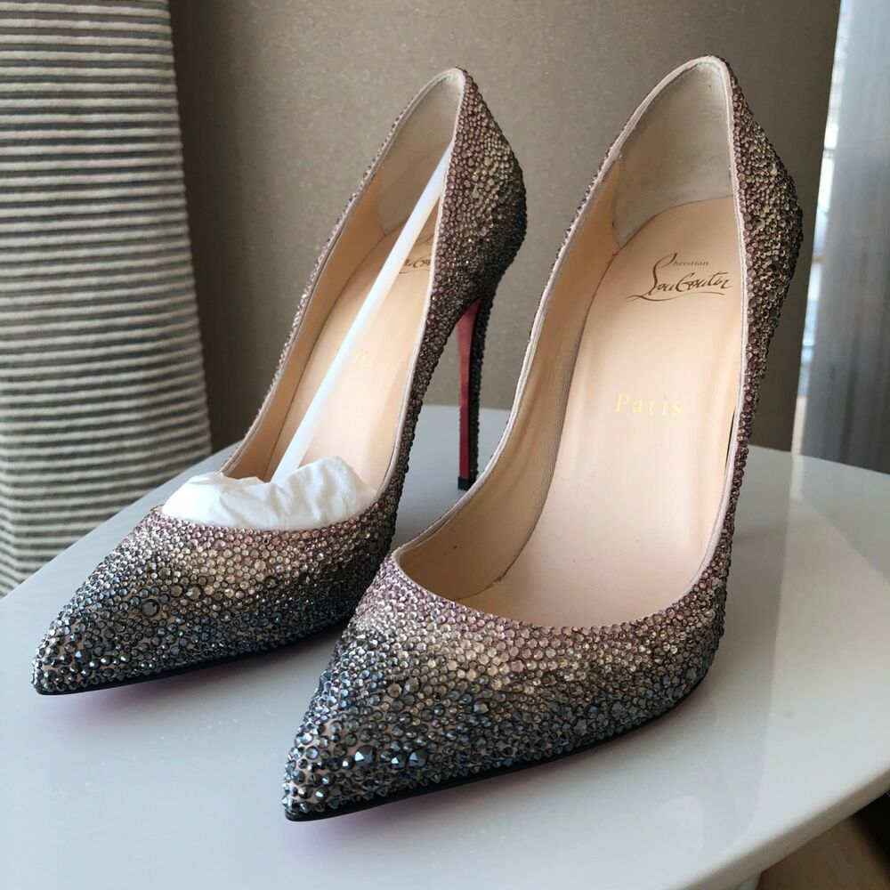 5d3abbb43ae8 ENDING SOON  NEW - 38.5 Christian Louboutin Pigalle Follies Strass Degrade  100mm  shoes