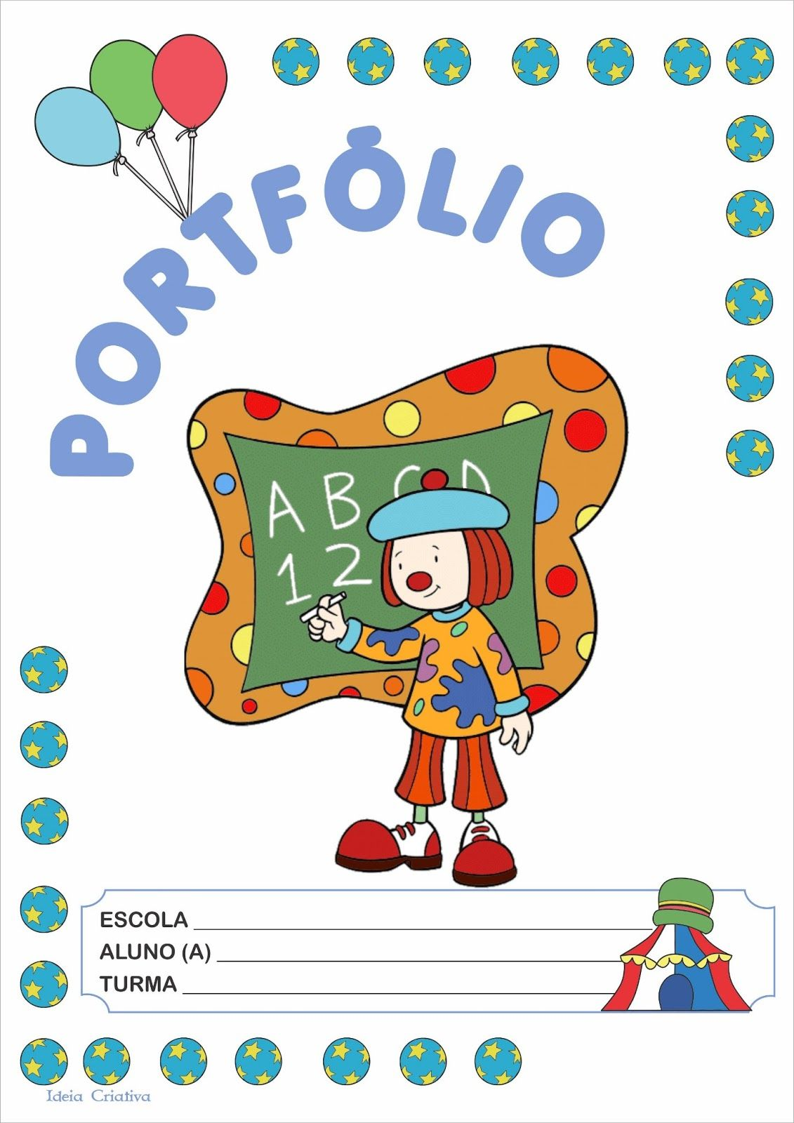 Modelo de Portfólio do Circo Jojo e Cia | Atividades | Pinterest ...