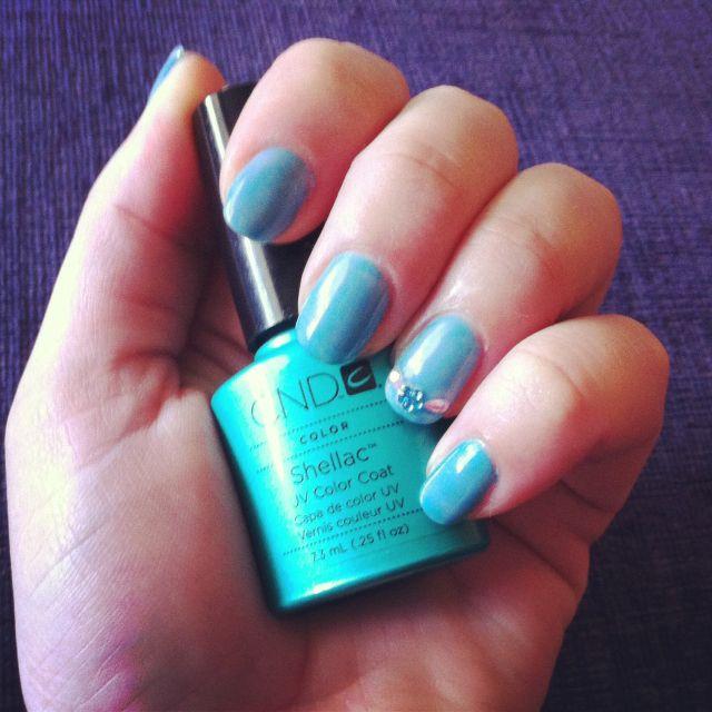 Nail Polish Layers: Hotski Shellac Layered With Romantique