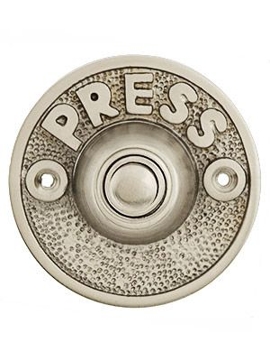 11 59 Vintage Quot Press Quot Door Bell Button In Solid Cast