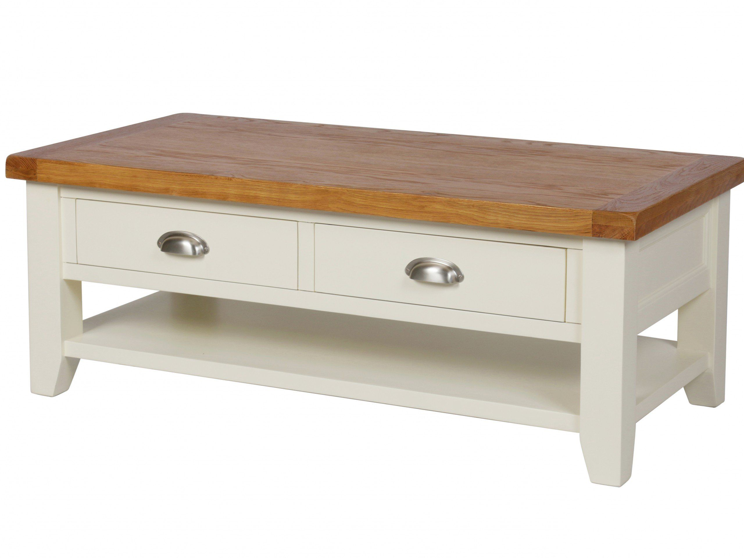 The stunning cream painted Country Cottage Oak 4 Drawer