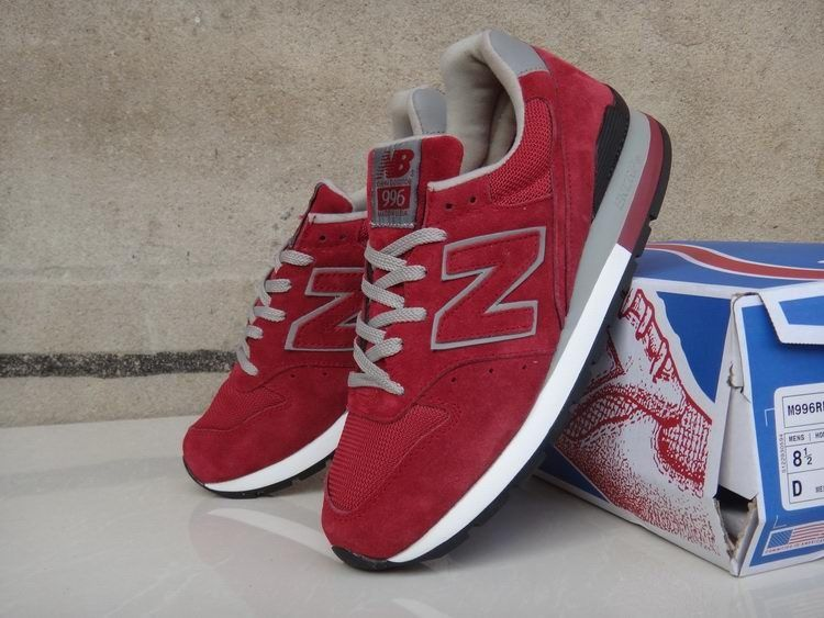 New Balance M996RR Running Men, Suede, Red Grey Black On Sale UK