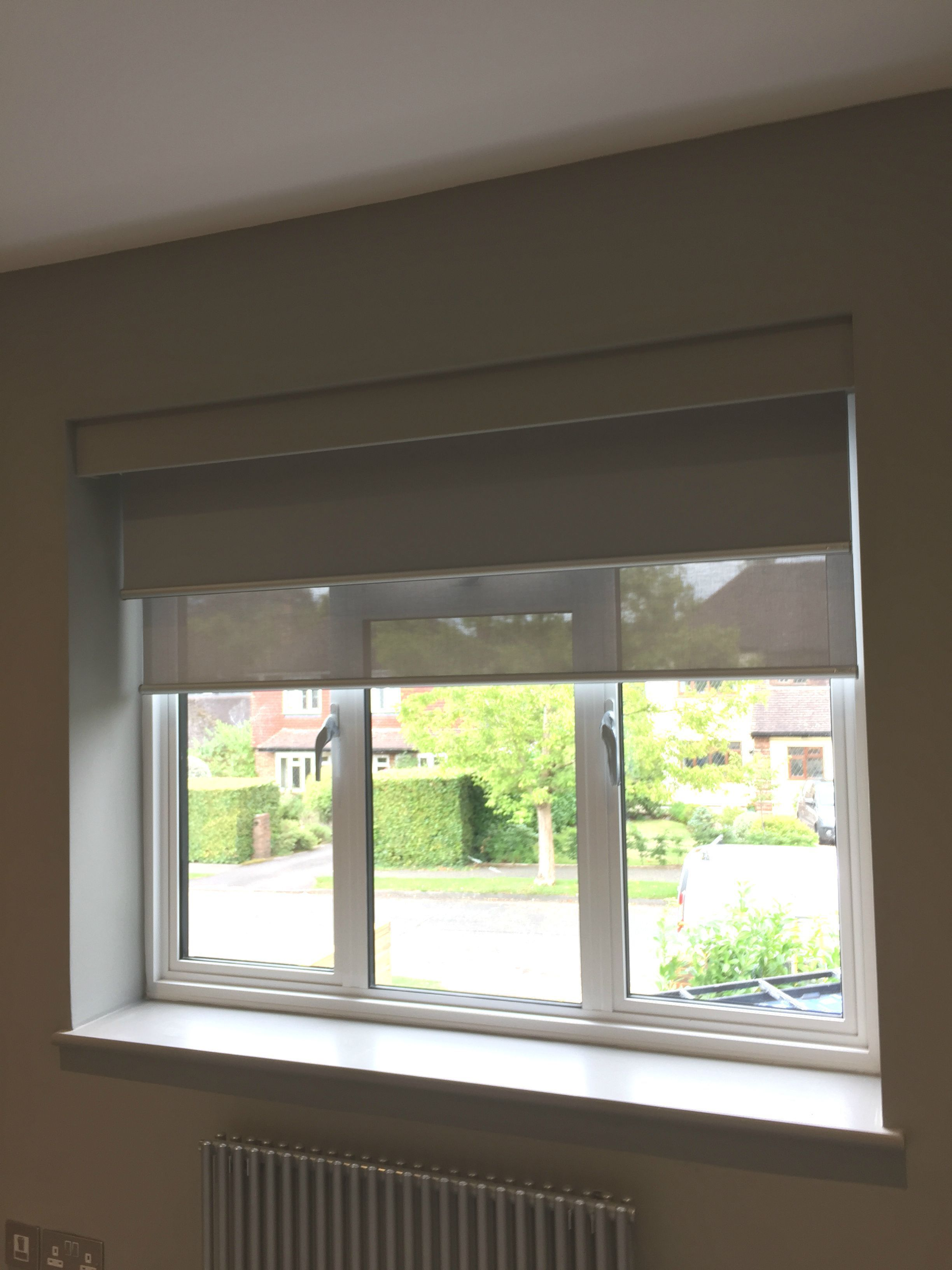 Dual Double Roller Blinds Fitted In Bedrooms In Cobham Surrey