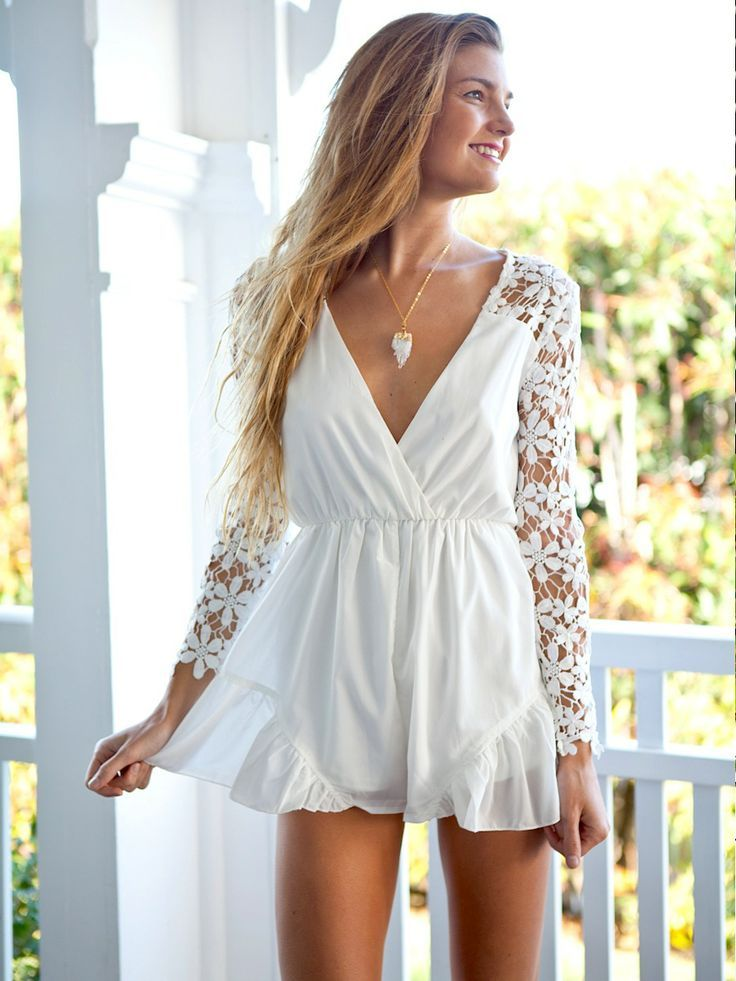 f037571d3a7 Lovely white Alabama playsuit