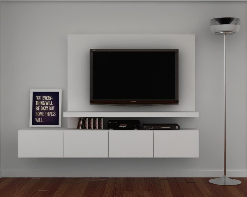 mueble de tv wall unit decoraci n pinterest meuble meuble tv et salon. Black Bedroom Furniture Sets. Home Design Ideas