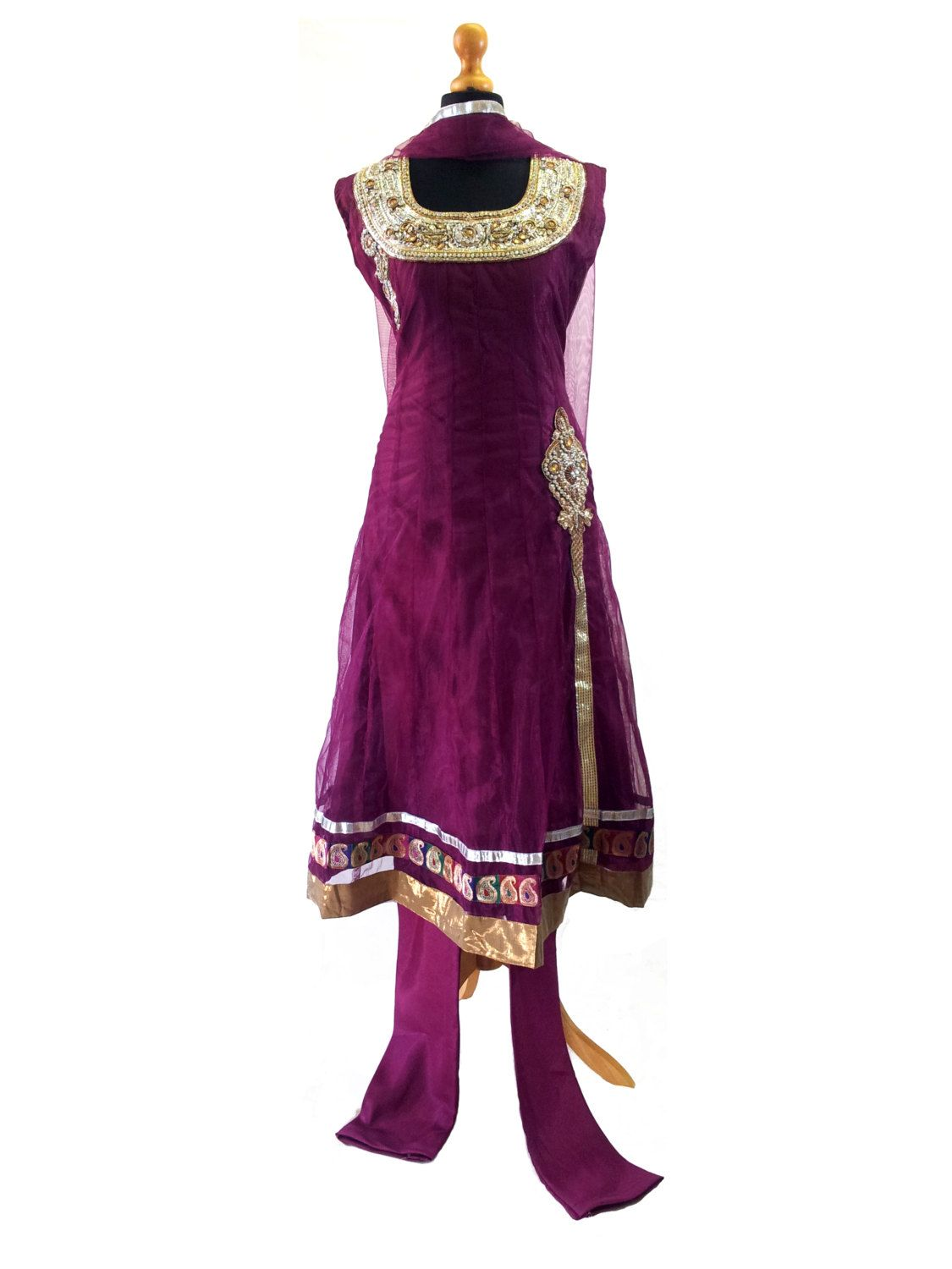 Deep purple Indian Ladies dress / Punjabi suit / Salwar ...