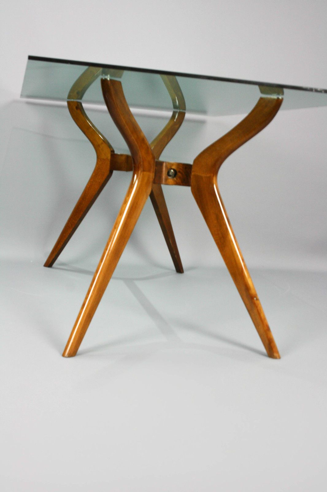 Mid century x stretcher base dining table vintage retro desk hall