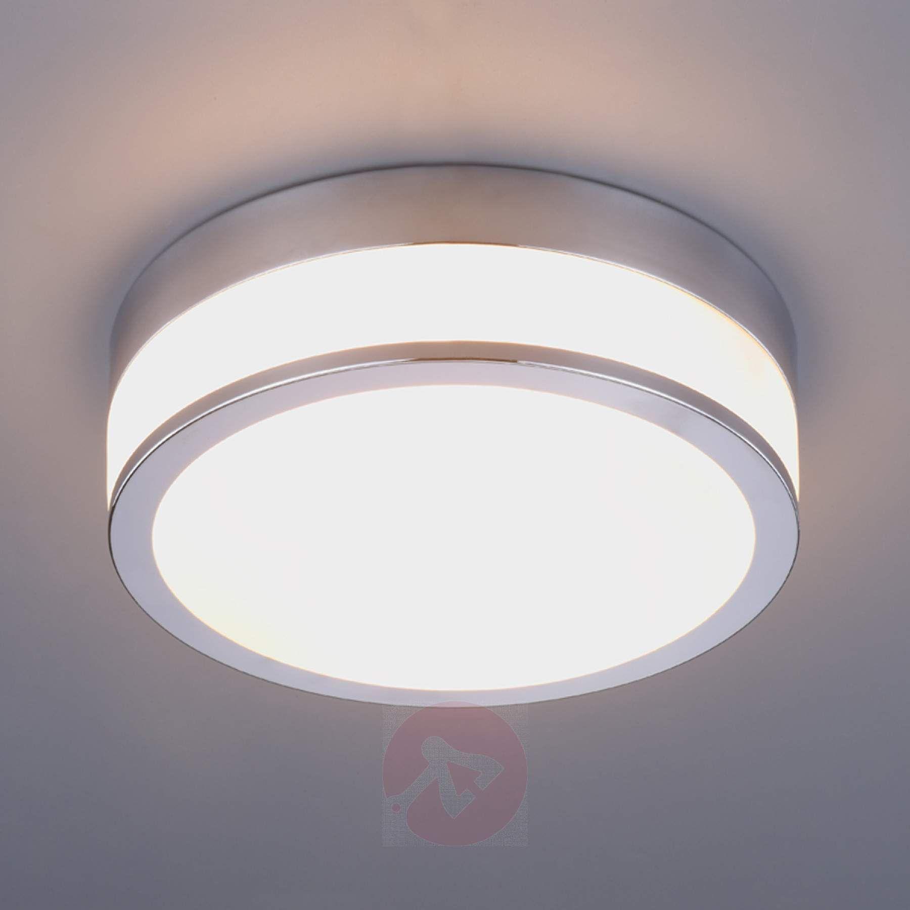 Lindby Flavi Bad Deckenlampe O 23 Cm Chrom Badezimmer Deckenleuchte Badezimmer Badezimmer Chrom