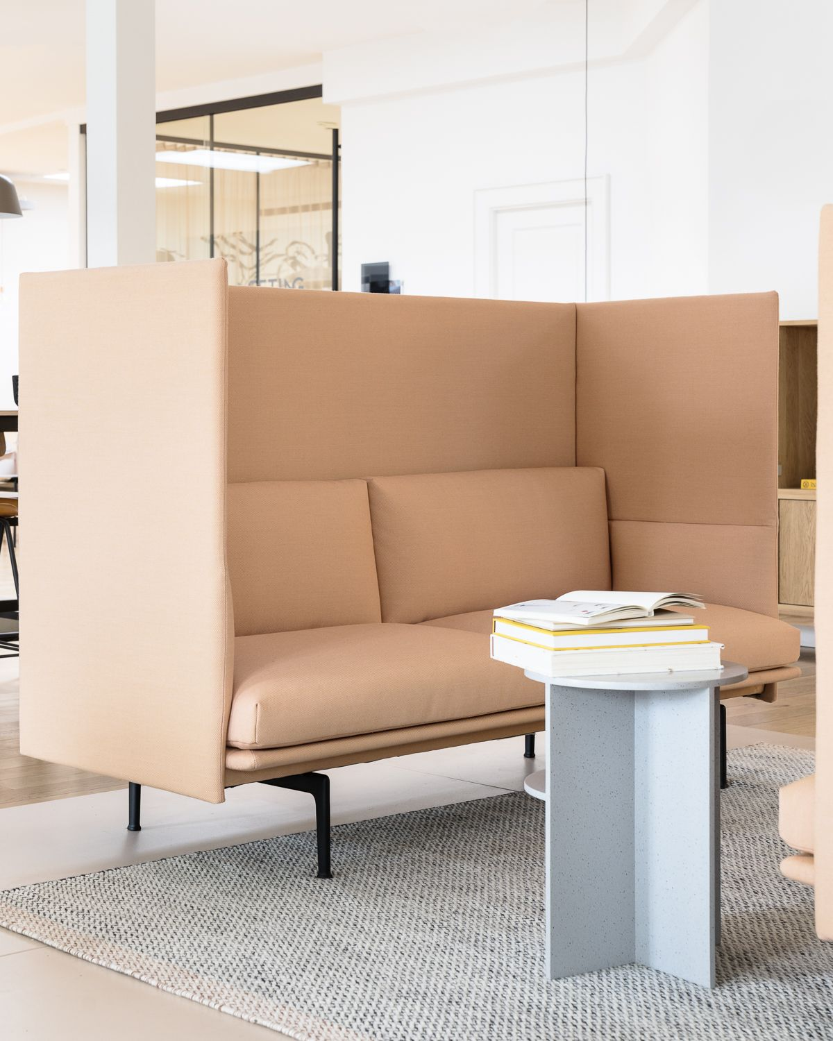 The Outline Highback Sofa From Muuto Combines The Soft Deep Seat And Clean Refined Lines Of Outlin Interior Design Furniture Furniture Design Furniture Styles