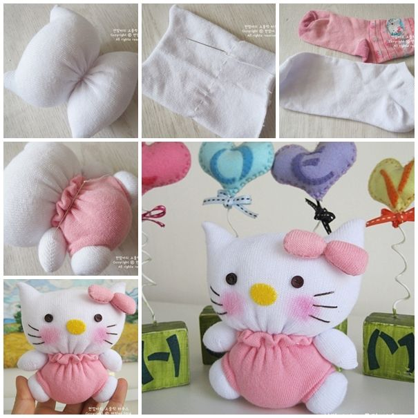 Wonderful DIY Adorable Sock Hello Kitty