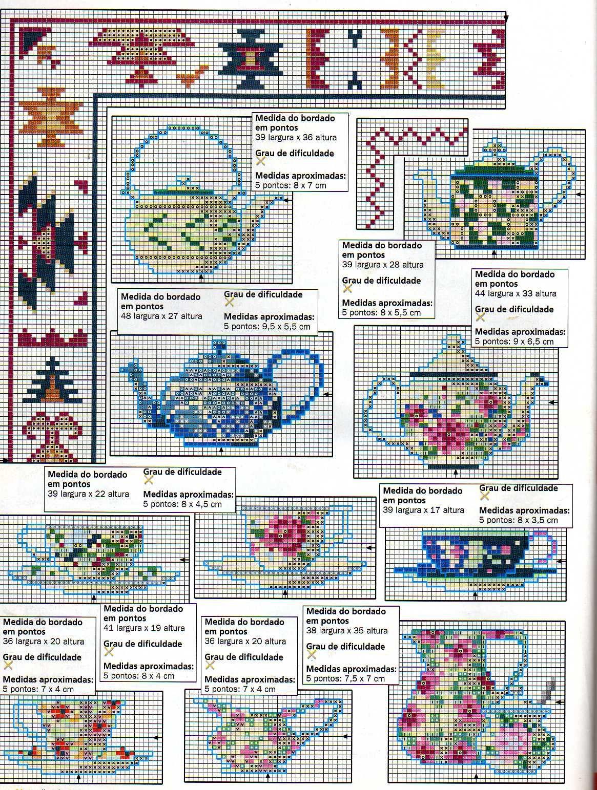 Cross stitch pattern, teapot and cup. | tea pot | Pinterest | Cross ...