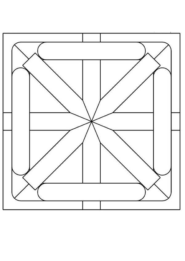 Another detailed geometric pattern coloring sheet page for young ...