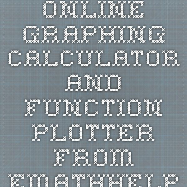 Online Graphing Calculator and Function Plotter from eMathHelp ...
