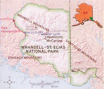 Wrangell St. Elias National Par Map