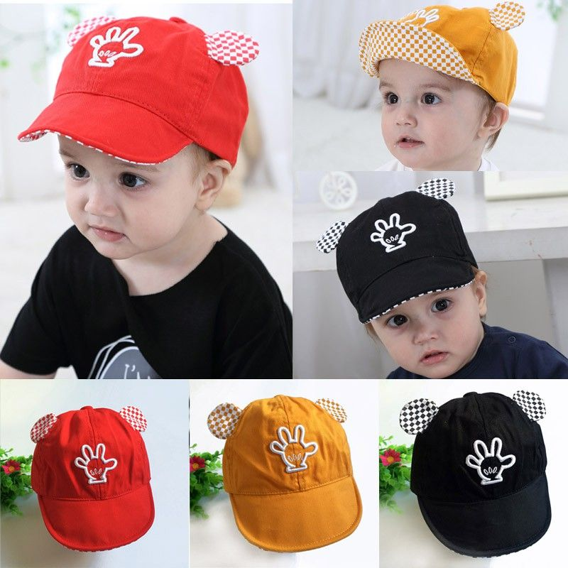 137fd49cc5d Click to Buy    Fashion Baby Hat Ears palm baby baseball Cap Palm ...