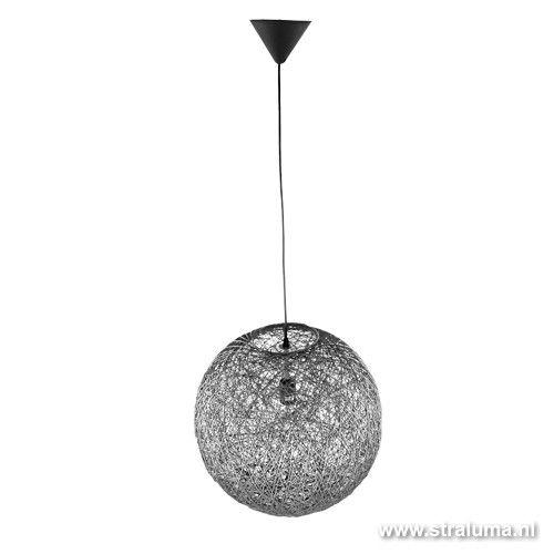 abaca hanglamp bol draad grijs eettafel 60 cm 145 00 lampen