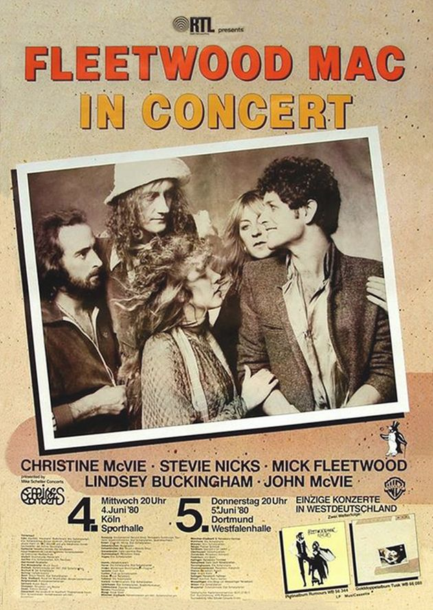Fleetwood Mac 1980 Köln (With images) Concert posters