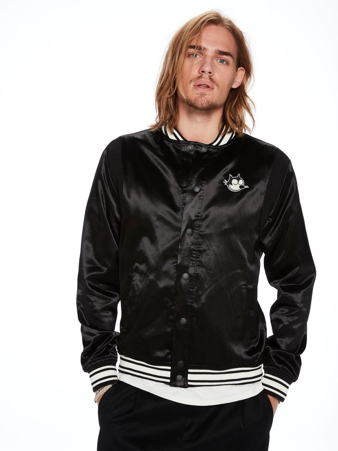 Scotchamp; Felix Soda Bomber The Shiny Artwork Jacket Catscotchsoda BoxdeCr