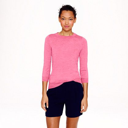 be8994c492 Merino Tippi sweater from J. Crew $79.50, Size M, colors: navy, heather  brownstone, midnight, brilliant purple, heather slate