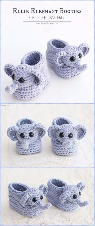 Crochet Elephant Softie and More Free Patterns   Bebé y Accesorios