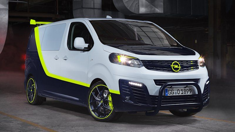 A Team Van Reimagined In Opel O Team Zafira Life In 2020 A Team Van Commercial Vehicle Concept Cars