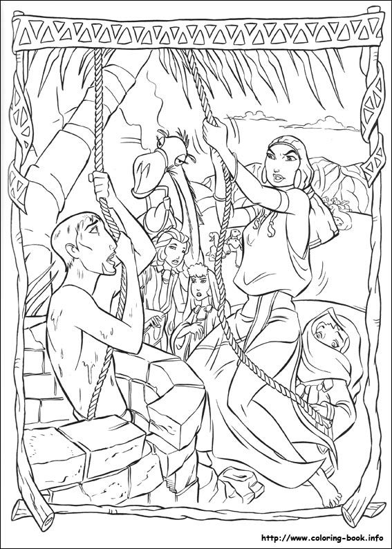 The Prince of Egypt coloring picture Color me pretty - Young ones - copy coloring pages for zacchaeus